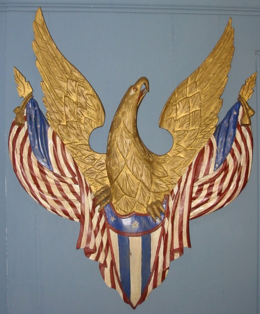 John Shortell Carved Eagle