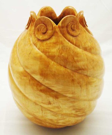 Carved Maple Vessel